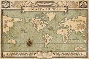 Fantastic Beasts Mappa Mundi World Map Movie Poster 36x24 Inch