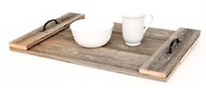 BarnwoodUSA Rustic Farmhouse 24x15 Wooden Serving Tray with Handles