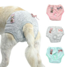 Washable Comfort Potty Training Reusable Diapers Pants For Female Dogs Grey Pink