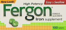 Fergon High Potency Iron Supplement Tablets - 100 Count
