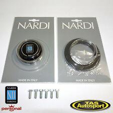 Nardi Horn Kit - Black Trim Ring & Horn Button & Screw Kit - MADE IN ITALY