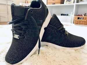 gold black adidas woman zx flux