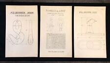 3 X Harland & Wolff Belfast 1930's Drawings THIMBLES LINKS HOOK CLEAT - RF03