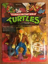 Vintage Playmates TMNT Ninja Turtles Ace Duck 14 Back MOC MINT C-9+ GRADABLE