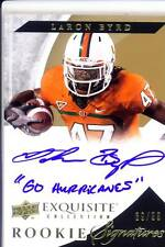 laron byrd rookie rc draft auto autograph miami hurricanes canes college #/99 12