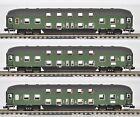 LS Models (Spur N) - 3 Doppelstock-Eilzugwagen 2.Kl., DB Ep.IV, grün, KKK