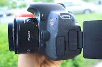 Canon Rebel T5i / 700D 18.0 MP SLR With 18-55mm STM (5 LENSES). Freeshipping!
