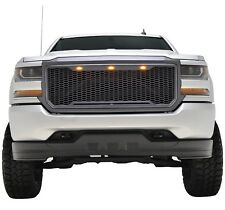 2016 2017 2018 Silverado 1500 Raptor Style Grille Charcoal Gray LED 16-18