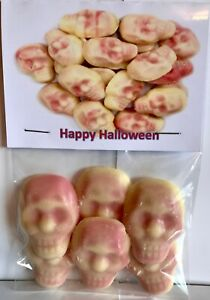 Halloween novelty sweets WHITE CHOCOLATE SKULLS