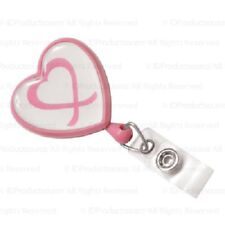 100 Breast Cancer Awareness Badge Reels with Swivel Back, 2 Colors Choices