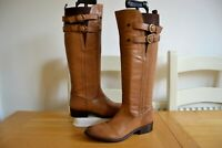 DUNE TIRRENT TAN BURNISHED LEATHER KNEE HIGH BUCKLE RIDING BOOTS UK5 EU38 RP£160