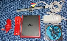 Nintendo Wii Mini red console with game, tested and works