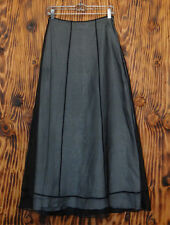 90s Skirt Privilege Goth Black Sheer Full Length Skirt Size 4