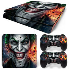 PS4 SLIM Console Dark Joker Decal Wrap Vinyl Sticker + 2 Controller Skins Set