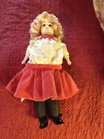Antique Marked Alma doll cloth body bisque head with clothes Germany