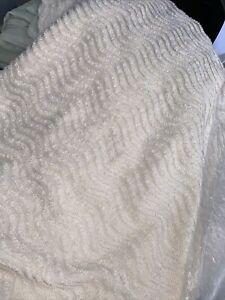 Better Trends Ashton Collection Medallion Tufted Chenille King Bedspread Cream