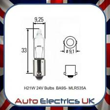 24V in line Bulb Fits Scania P G R, MAN TGS TGX, Mercedes Actros MP4 H21W BA9S