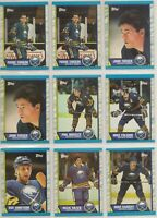 BUFFALO SABRES ~ 1989-90 Topps TEAM LOT / SET ~ 14 Hockey Cards ~ ANDREYCHUK