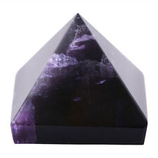 REIKI ENERGY CHARGED LARGE AMETHYST PYRAMID CRYSTAL NATURAL HEALING HOME DECOR