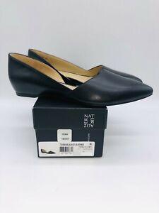 Naturalizer Women's Tamara Slip On D'Orsay Flats Black Leather - Pick Size