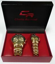 Charles Raymond His & Her's Designer Matching Wristwatches BRAND NEW