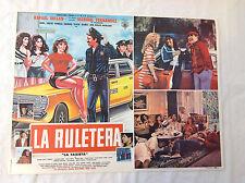 RARE VINTAGE MEXICAN MOVIE POSTER 1987 La Ruletera La Taxista Rafael Inclan