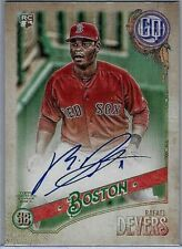 2018 Topps Gypsy Queen Topps Gum Back #GQA-RD Rafael Devers Auto SER 7/25 Look!