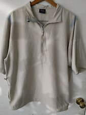 Men's Nike Golf Pullover Jacket Windbreaker Large Tan/Gray Pullover 1/4 Zip
