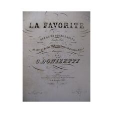 DONIZETTI Gaetano La Favorite Opera Ouverture Orchestre ca1845 partition sheet m