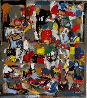 ALEXANDRE PONS/Abstrait contemporain pièce unique format 80x70 cm
