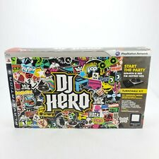 DJ Hero (1) PlayStation 3 PS3 Turntable Kit Complete New Open Box Dongle/Game