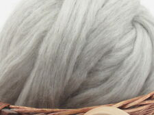 Natural Grey Corriedale Wool Top Roving - Undyed Natural Spinning Fiber / 1oz