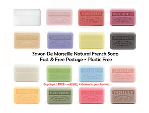 Savon De Marseille Natural French Soap 60g - FREE P&P -Paraben and Sulphate Free