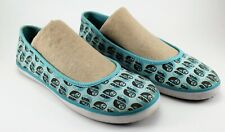 KEDS ELEANOR Grosch Owl Shoes BALLET FLAT Shoes ** Size 7 TEAL TURQUOISE BROWN