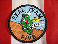 Navy Seal Team Five Patch New Full Color Embroidered Hat Jacket Bag Coat
