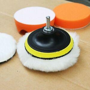 Car Polishing Pad Sponge Buffing Kit Polisher Drill-Bit 6x/Set Alloy Grill UK