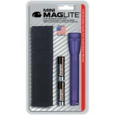 Maglite 106-361 Mini-MagLite Purple Flashlight Kit with Holster & 2 AA Batteries