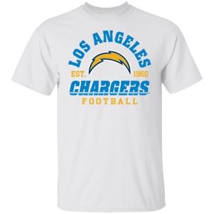 Men's Los Angeles Chargers Est 1960 Logo Football 2020 T-shirt S-4XL