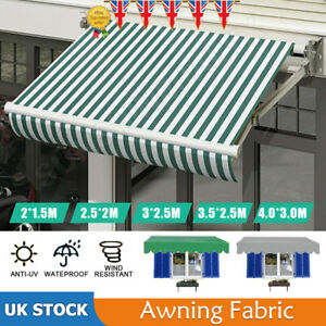 Garden Patio Awning Canopy Sun Shade Shelter Replacement Fabric Top Cover+Frill