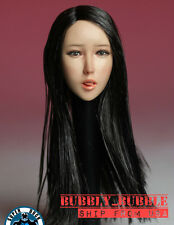 1/6 Female Head Sculpt w/ Tongue Long Black Hair For Phicen Figure SHIP FROM USA