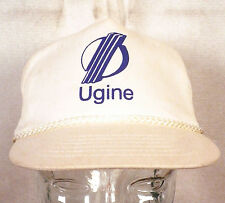 vtg 80s twill Retro Dope Logo Ugine Air Conditioner Snapback Trucker Hat Cap