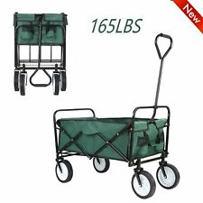 Collapsible Wagon Cart Garden Outdoor Beach Utility Car Toy Sport Buggy Folding