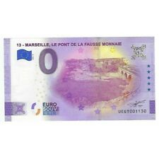 13 MARSEILLE 2021-5 LE PONT DE LA FAUSSE MONNAIE BILLET SOUVENIR 0 EURO TOURISTI