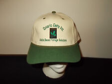 VTG-1990s Ontario Dehy Inc Alfalfa seeds farming ag strapback hat sku6