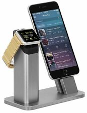 Ziku 2 in 1 Stand Charging Dock For Apple Watch 2/1 iPhone 7/7 Plus/ 6/6S/SE/5 S