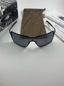 Oakley Probation Matte Black/Black Iridium Polarized OO4041-05 Inmate+Box NEW