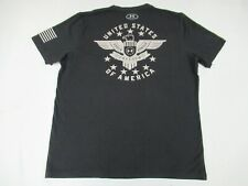 UNDER ARMOUR FREEDOM EAGLE USA - BLACK LARGE LOOSE FIT ATHLETIC T-SHIRT D1980