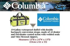 Columbia PFG Force-12 Waterproof 19-gallon drybag Backpack Duffel Napa Green NWT