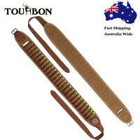Tourbon Shotgun Cartridges Belt Shells Ammo Carry 12GA Canvas Leather Hunting AU