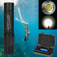 Ultra Bright Waterproof XMLT6 LED Diving Scuba Flashlight Torch + Charger+ Case